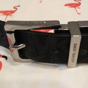 Micheal Kors Black and Brown logo belt!